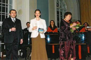 jarní koncert s křtem reedice CD Richard Kolář (vydavatel), Dagmar Burešová (sólistka ND), Dagmar Součková (hlasová poradkyně FKPS)