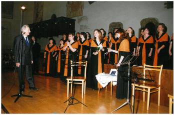 křest CD Vánoční zpívání - kmotrem byl Věroslav Neumann