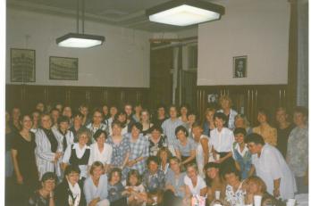 oslava s bývalými členkami sboru v Sokole Libeň
