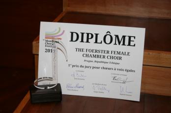 1. místo v kategorii ženských sborů