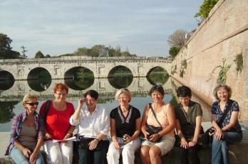 Rimini - u Tiberiova mostu